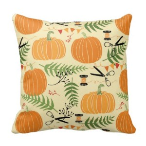 Abstract Autumn Patterns Throw Pillow