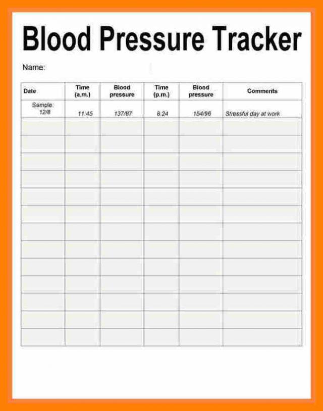 Blood Pressure Recording Chart Printable shop fresh