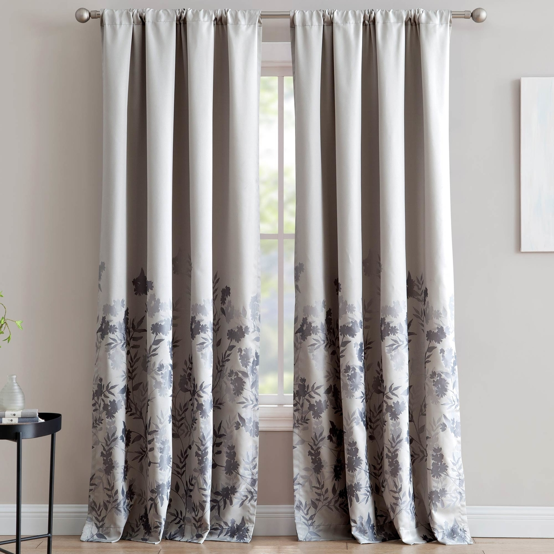 Jacquard Curtains 1888 Mills Isabelle Jacquard Single Window Curtain Panel With Rod