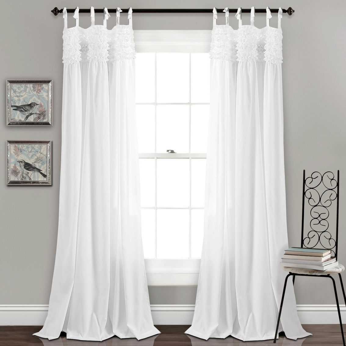 Ruffle Curtain Panel Lush Decor Lydia Ruffle 84 X 40 Curtain Panel 2 Pk Curtains