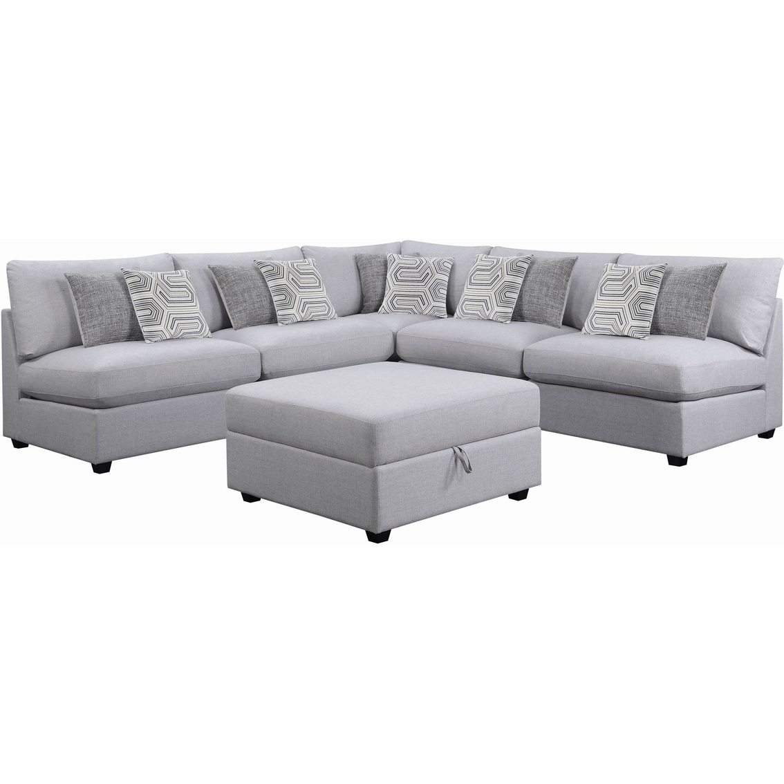 Couches 4 Scott Living Charlotte 5 Pc Modern Sectional With 4 Armless