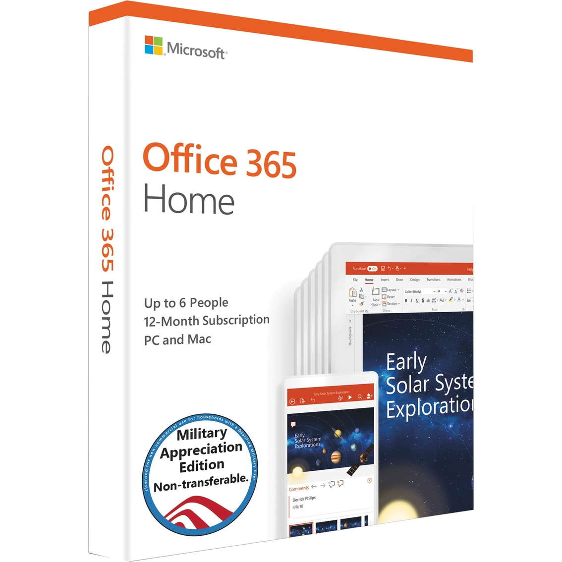Microsoft Products Microsoft Office 365 Home Military Edition 2019 Microsoft