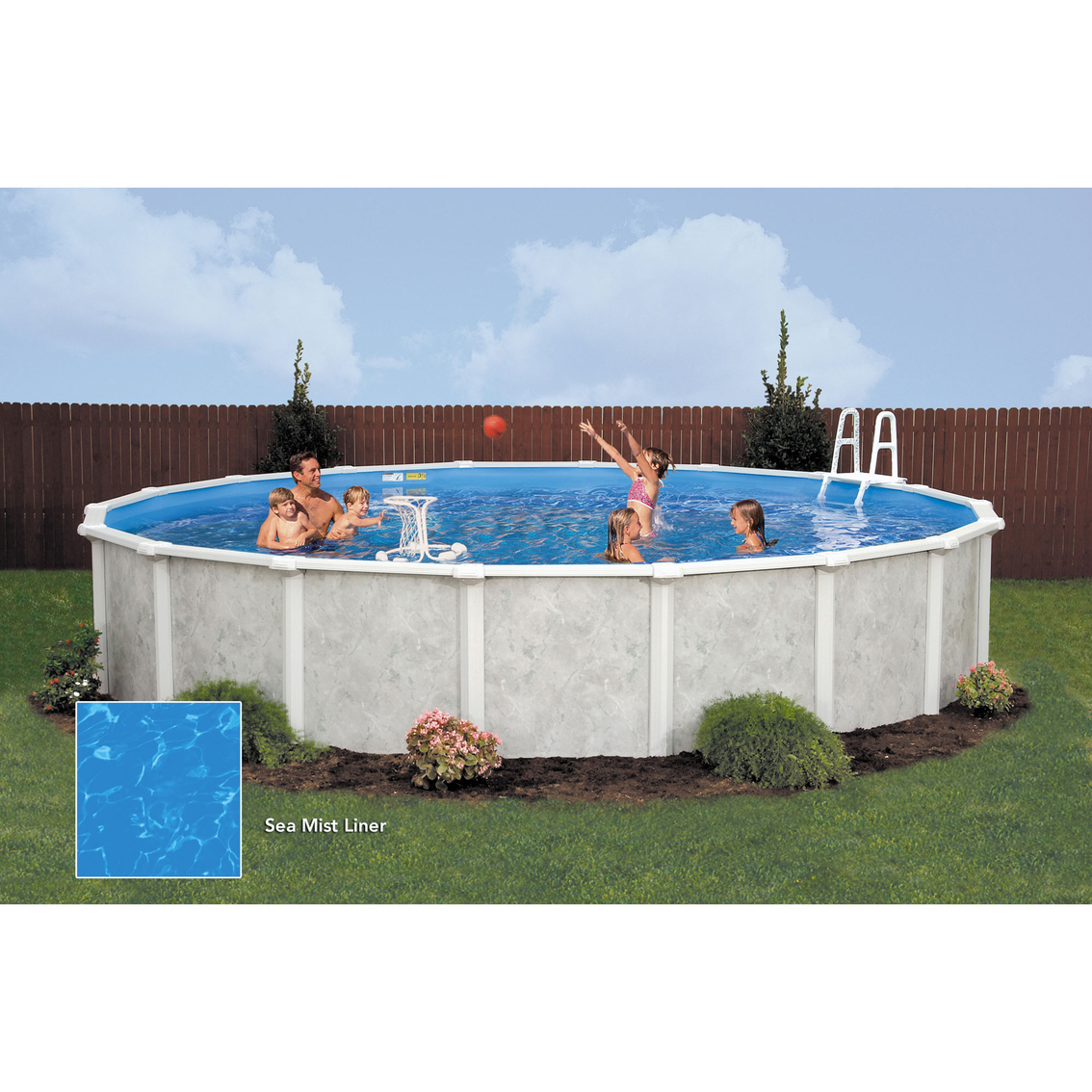 Frame Pool Rund 300 X 100 Lomart Grey Mist Round Above Ground Swimming Pool Package