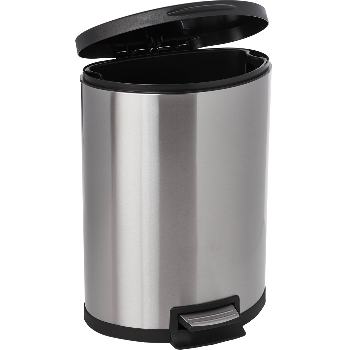 Cool Trash Bins Simply Perfect 45l Semi Round Stainless Steel Step Bin Trash