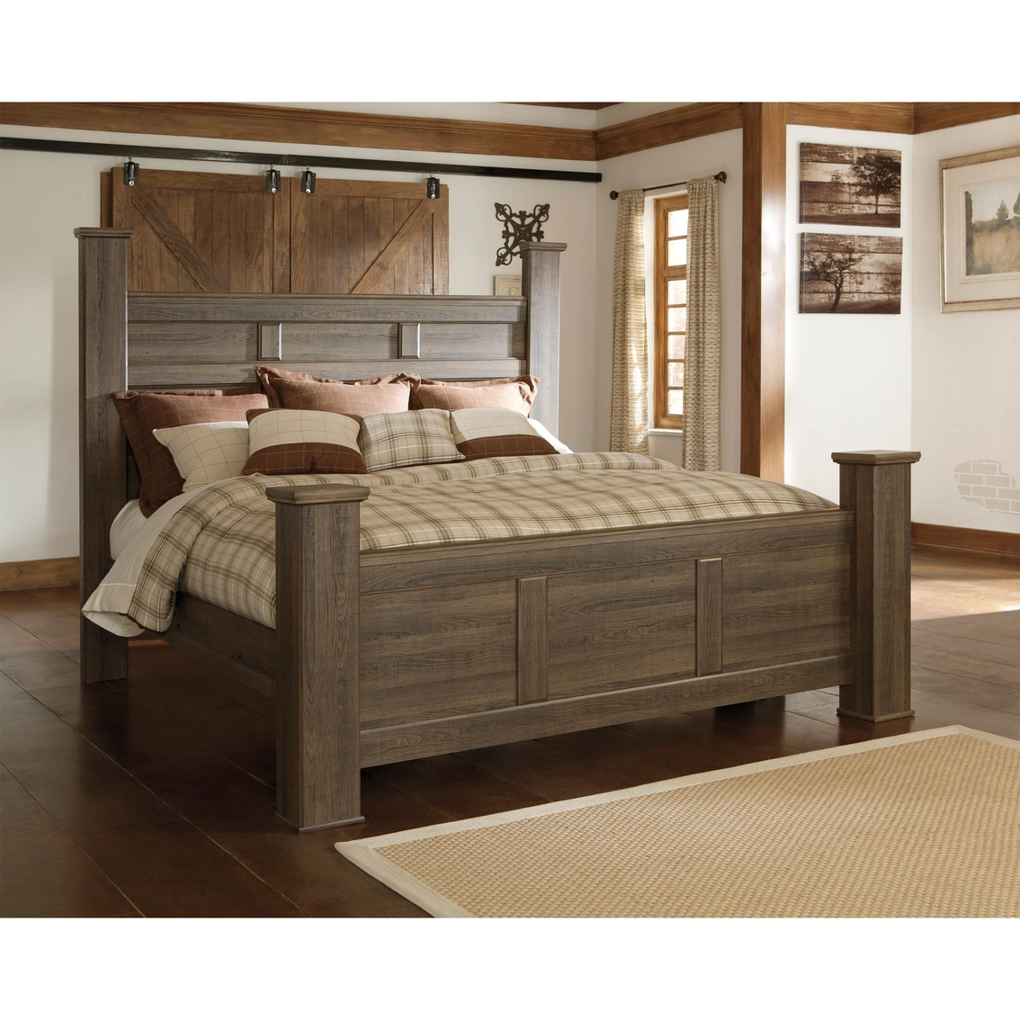 King Bed Frame Design Signature Design By Ashley Juararo King Poster Bed Beds Home