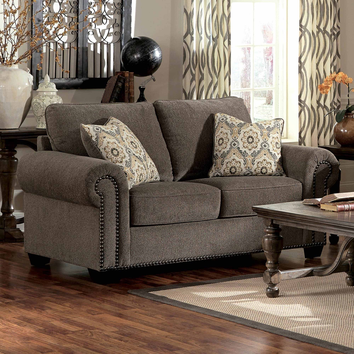 Emelen Sofa And Loveseat Benchcraft Emelen Loveseat Gray Sofas Couches Home