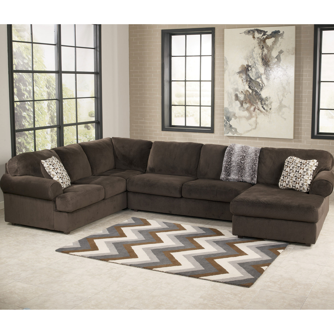 Plush Sofas Customer Service Signature Design By Ashley Jessa Place 3 Pc. Sectional