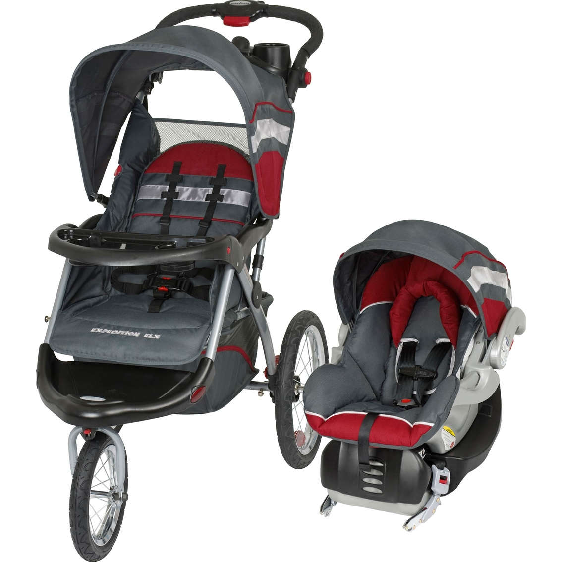 Toddler Stroller Jogging Baby Trend Expedition Elx Jogging Stroller And Car Seat 2 Pc