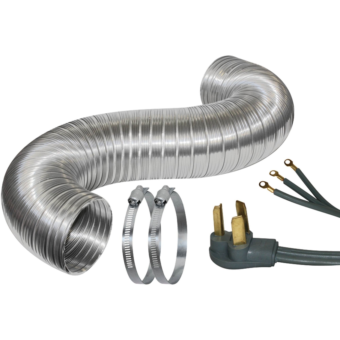 Dryer Vent Insulation Certified Appliance 5 Ft Dryer Duct Kit With 6 Ft 3 Wire Cord