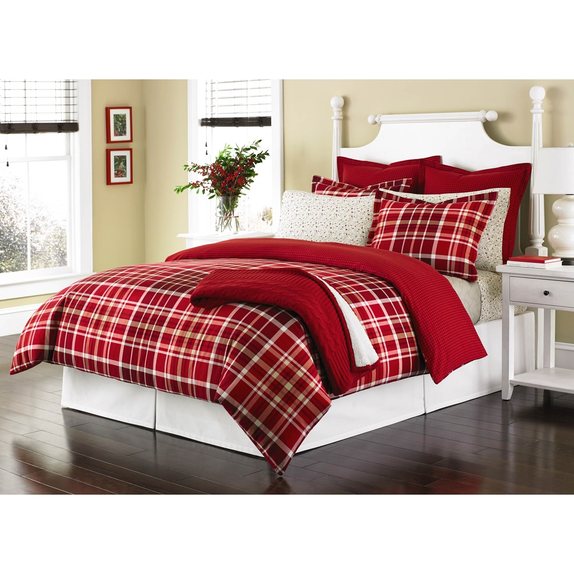 Where To Buy Nice Duvet Covers Martha Stewart Collection Winter Tartan Flannel Duvet Cover Set