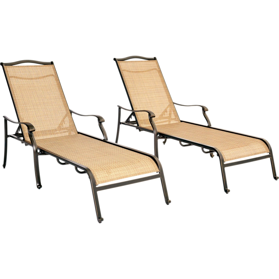 Chaise Pc Hanover Outdoor Monaco Chaise Lounge Chairs 2 Pc Set Chaises