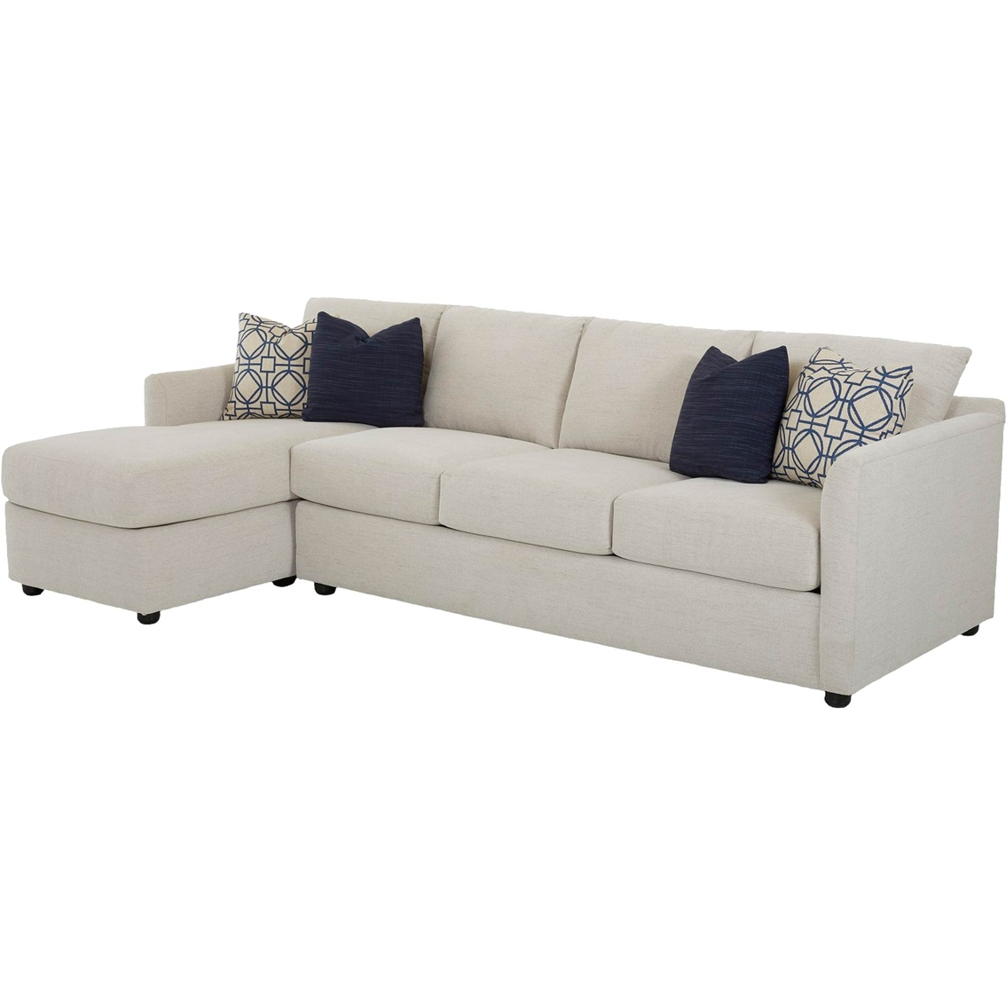 Sectional Corner Couch Klaussner Atlanta 2 Pc Sectional Raf Queen Sleeper Laf Corner
