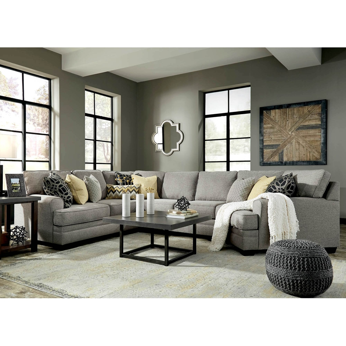 Couches 4 Benchcraft Cresson 4 Pc Sectional Raf Cuddler Laf Loveseat