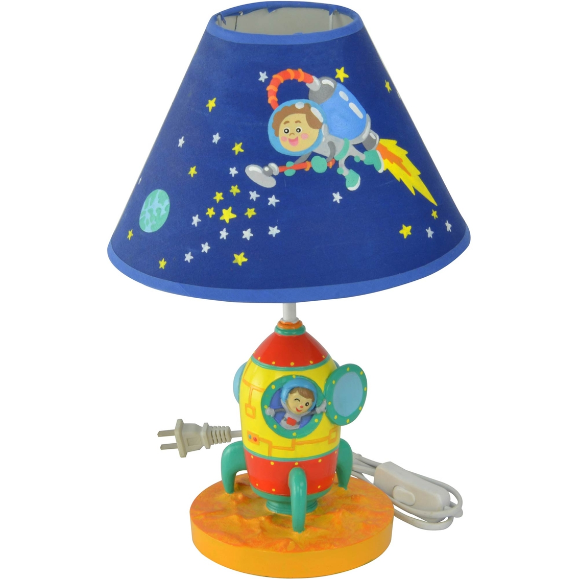 Table Lamps For Kids Fantasy Fields Outer Space Hand Painted Kids Table Lamp Lamps