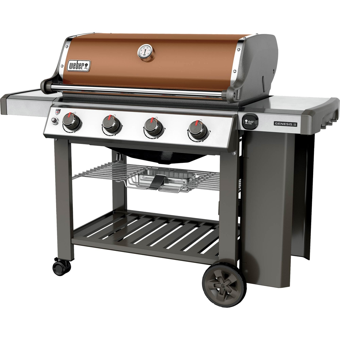 Weber Grill Thermometer Weber Genesis Ii E 410 4 Burner Propane Gas Grill With Built In