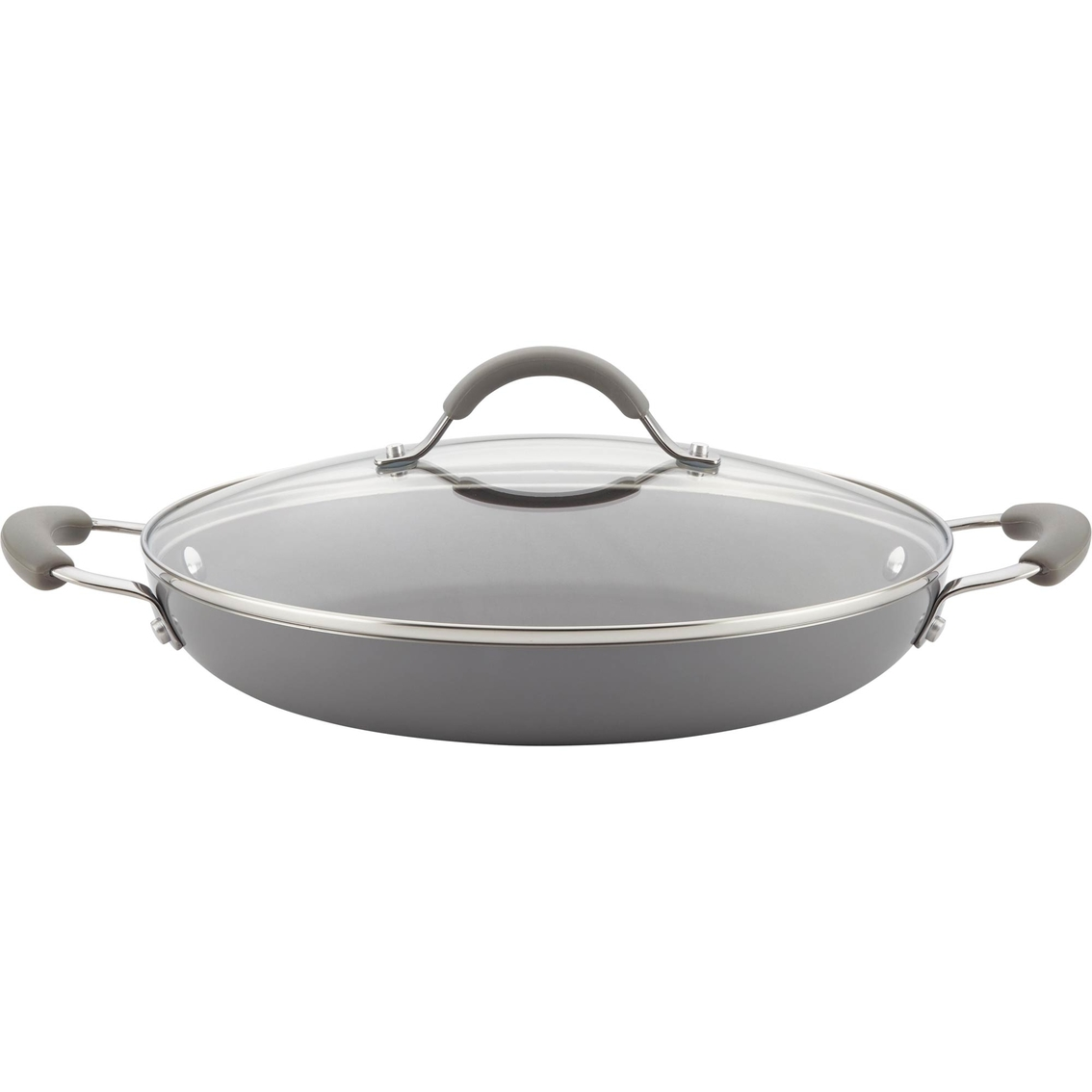 Cucina Wok Rachael Ray Cucina 12 In Covered Pan Fry Pans Skillets Home