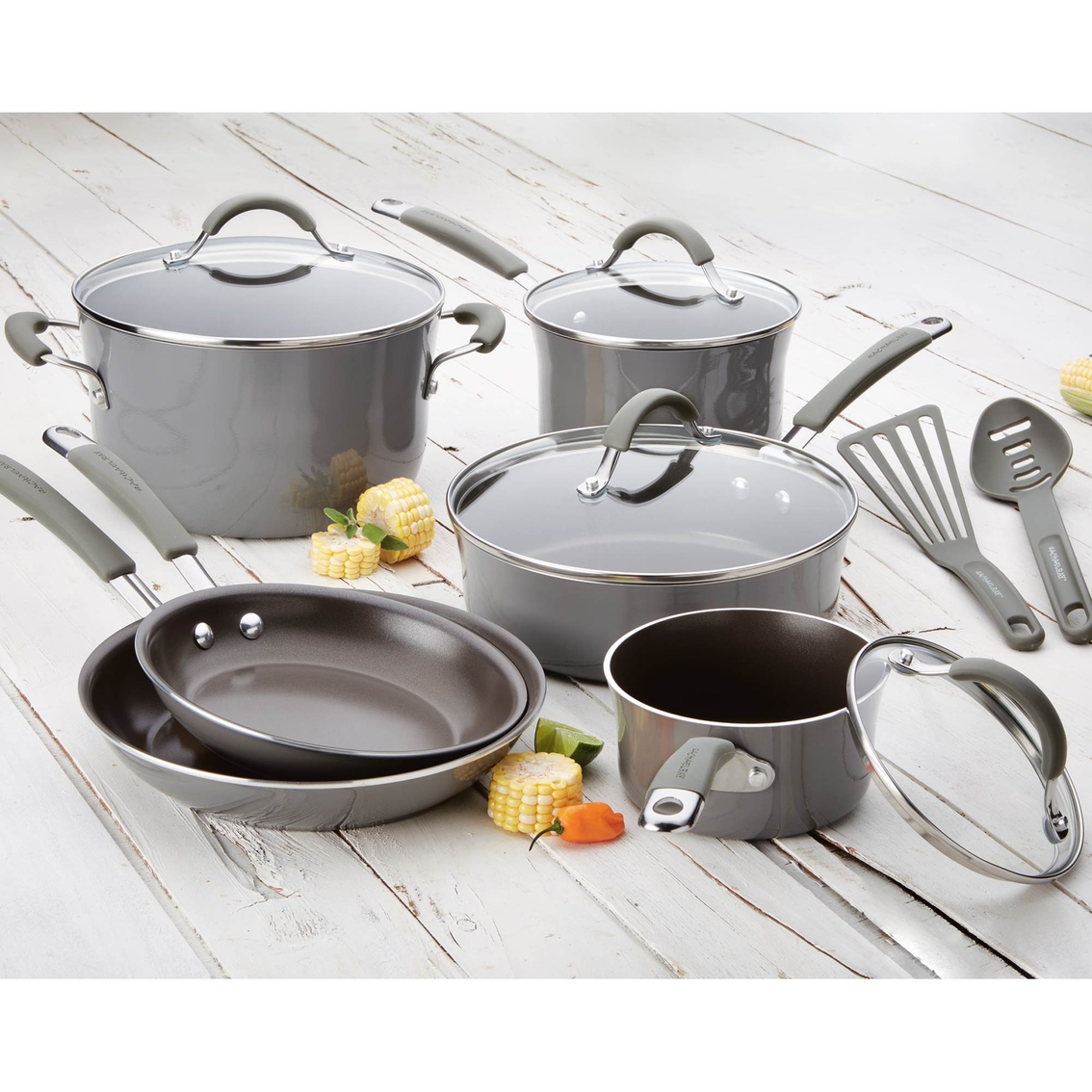 Cucina Kitchen Appliances Rachael Ray Cucina 12 Pc Cookware Set Non Stick Home