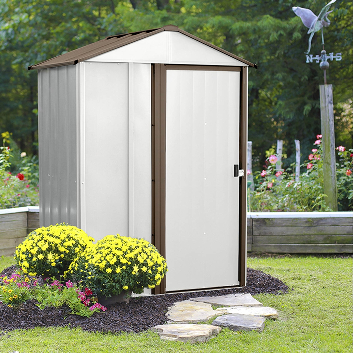 Steel Storage Sheds Arrow Newburgh 5 X 4 Ft Steel Storage Shed Storage Sheds More