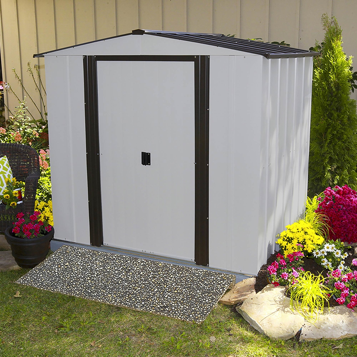 Steel Storage Sheds Arrow Newburgh Steel Storage Shed Storage Sheds More Shop
