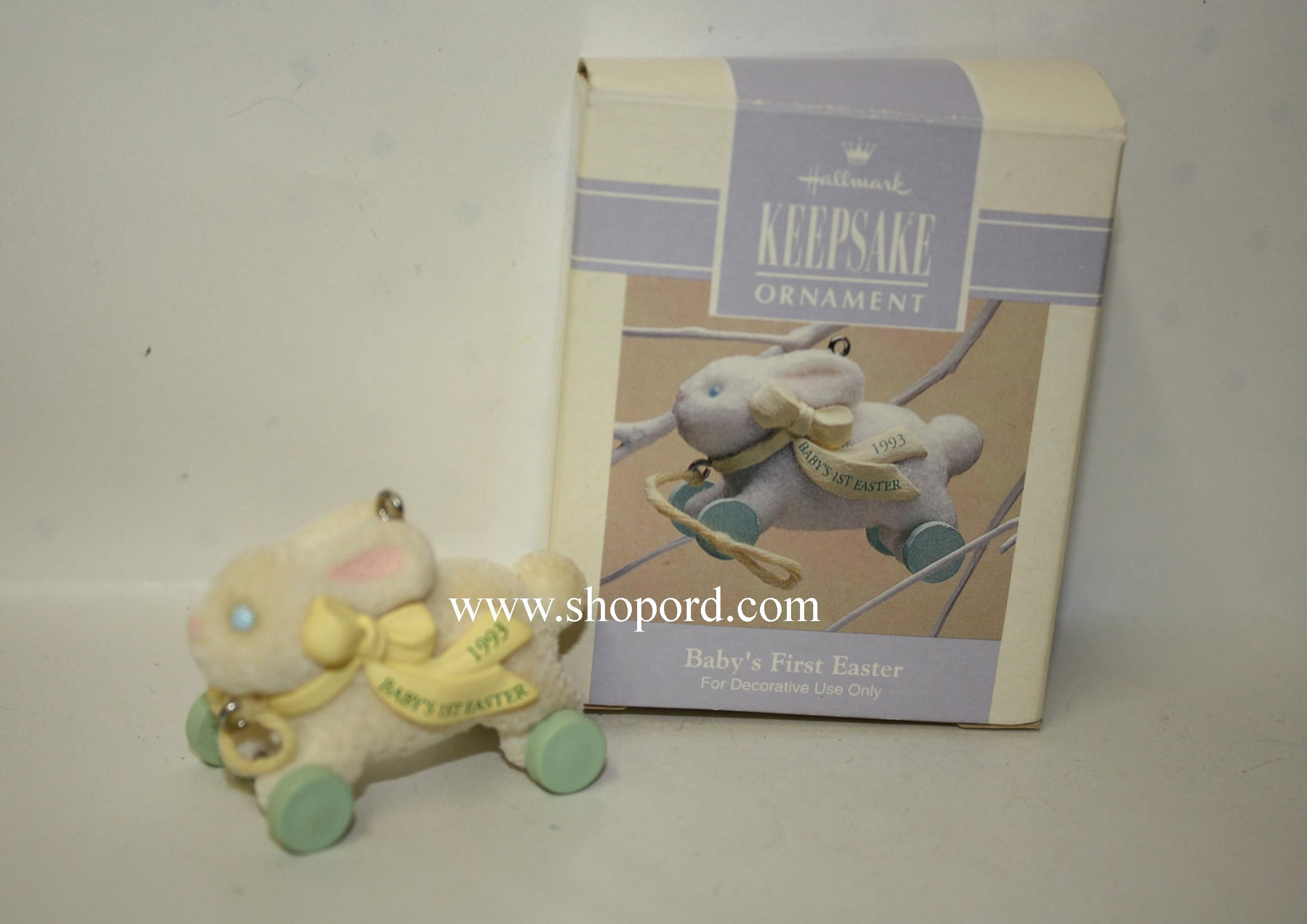 Hallmark 1993 Babys First Easter Spring Ornament Qeo8345