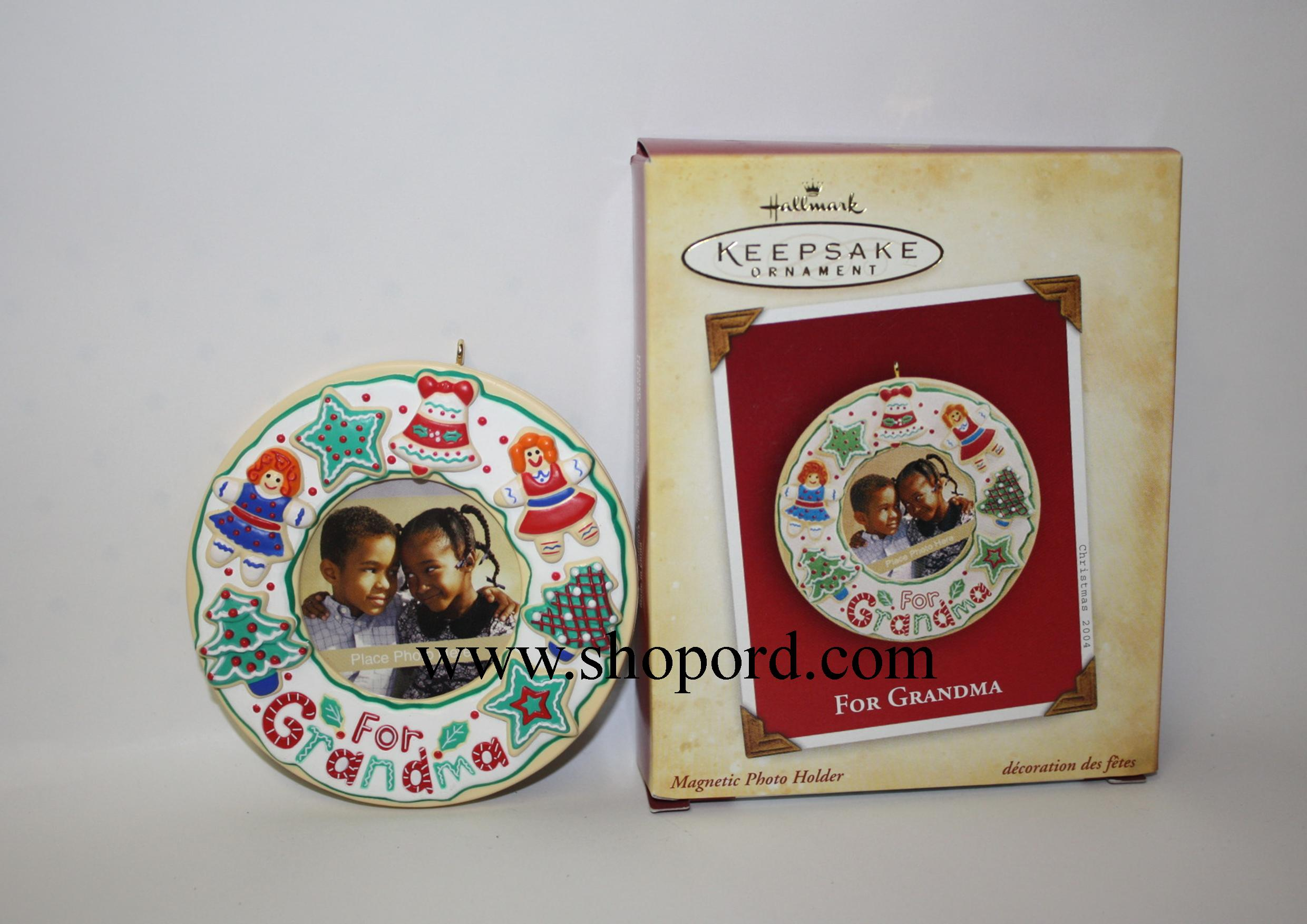 Hallmark 2004 For Grandma Magnetic Photo Holder Ornament