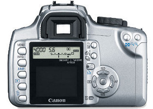 Canon Digital Rebel XT 350D (Back)
