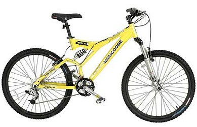 Yellow Mongoose Bike at The Sports Authority