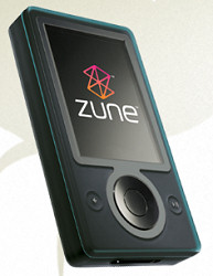 First generation Microsoft Zune running second generation software