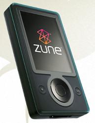 First generation Microsoft Zune running second generation software