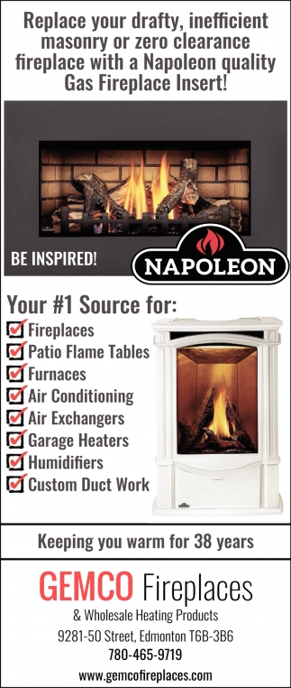 Wholesale Fireplace Inserts Keeping You Warm For 38 Years Gemco Fireplaces Edmonton Ab