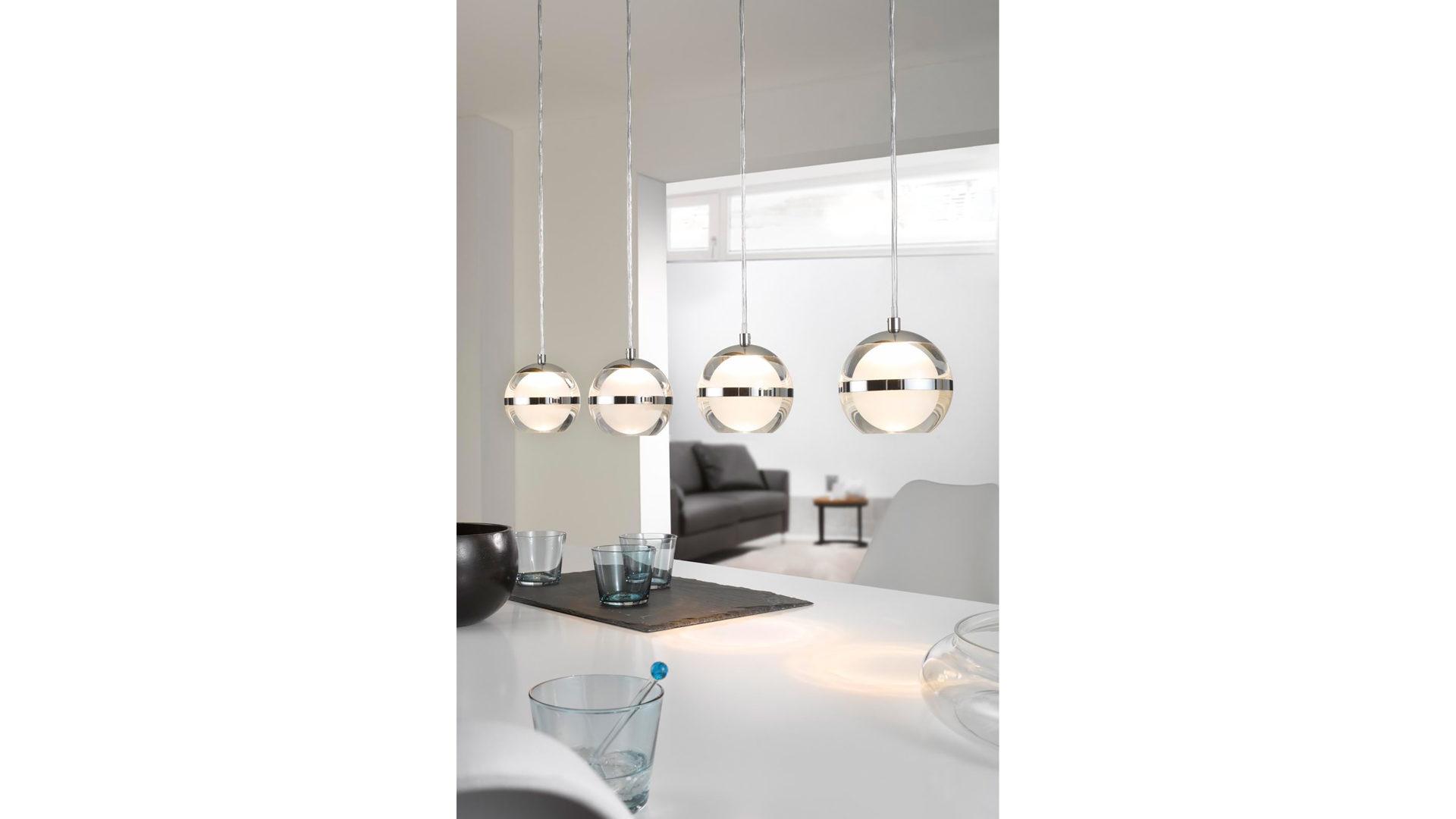 Moderne Lampen 75 : Lampe esszimmer chrom moderne led chrom gold kupfer glaskugel