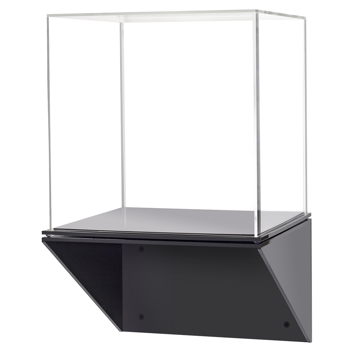 Wall Mounted Display Case Acrylic Display Case With Black Wall Mount Shelf