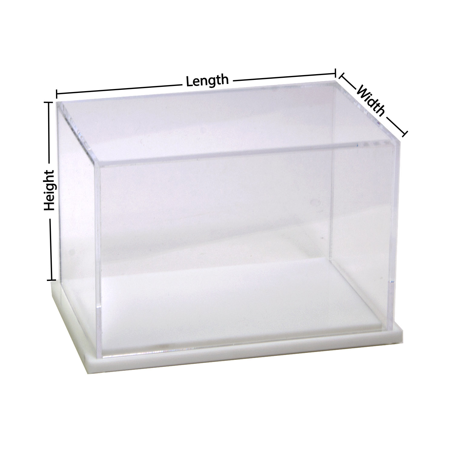 Clear Display Boxes Custom Size Acrylic Display Box With White Base Buy