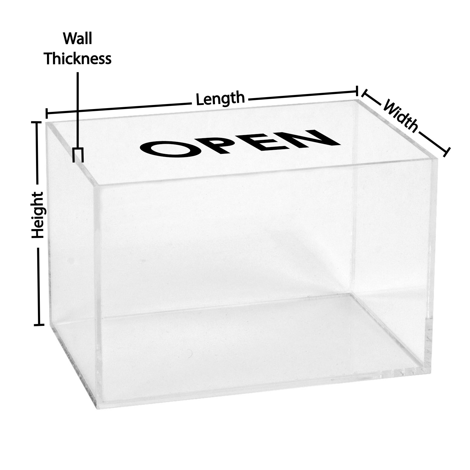 Clear Display Boxes 5 Sided Clear Acrylic Box Custom Size Buy Acrylic