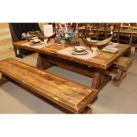 Stony Brooke - Trestle Table - Rustic | Log | Reclaimed ...