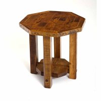 Stony Brooke Reclaimed Barn Wood Octagon Side Table