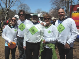 Riding for Shoreline Greenway Trail at the Rock to Rock Earth Day ride on April 25, Chelsea Anderson & her dad, Rick Anderson, Bruce Simonds, Carol Grave, Peter Hawes.