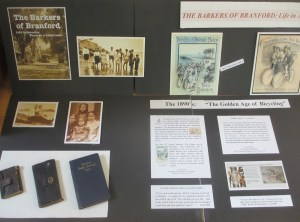 Blackstone Library display case of family memorabilia for Ted's new book