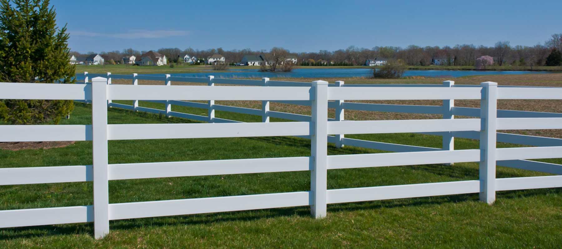 Rail vinyl fence shoreline systems