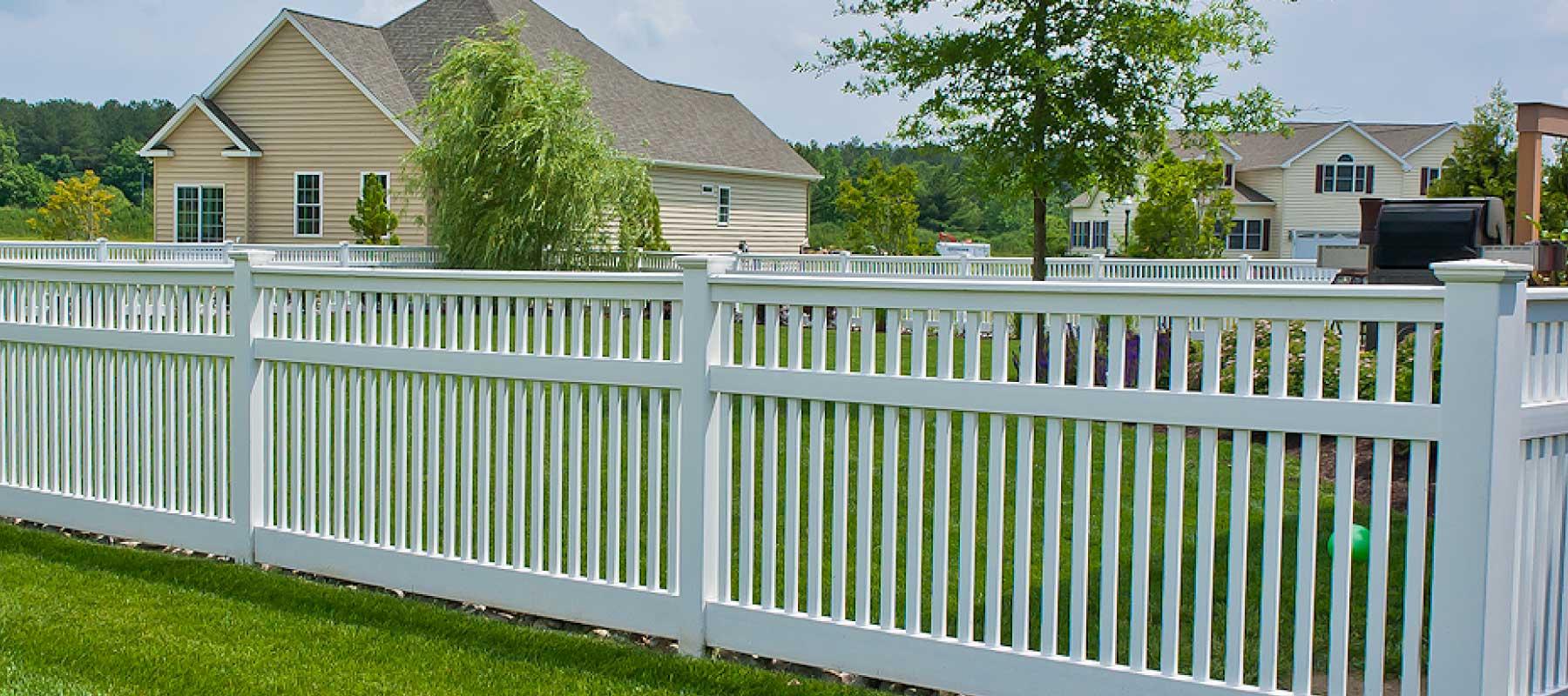 Princeton ornamental vinyl fence shoreline vinyl systems color options baanklon Images