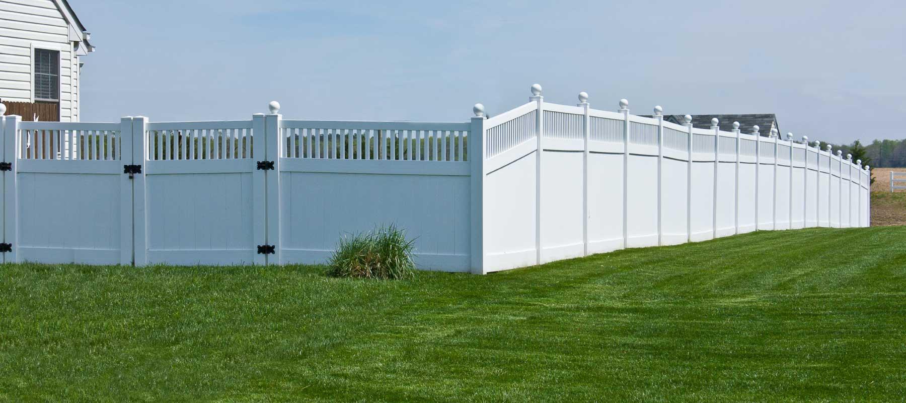 Talbot vinyl privacy fence shoreline vinyl systems color options baanklon Images