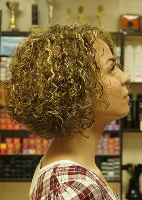 Blonde Curly Bob Short Curly Hairstyles 2014 2015 Short Hairstyles 2018