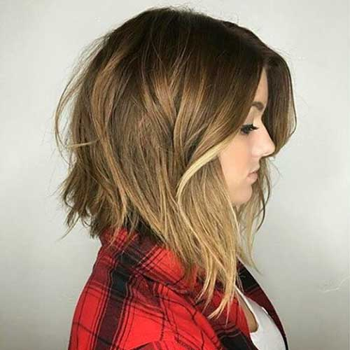 Dark Brown Balayage Long Bob 30 Super Short Layered Hairstyles Short Hairstyles 2018