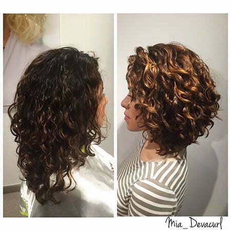 Curly Bob Short Brunette