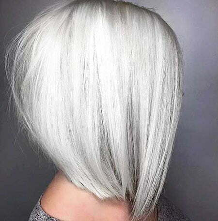 Blonde Silver Color Bob