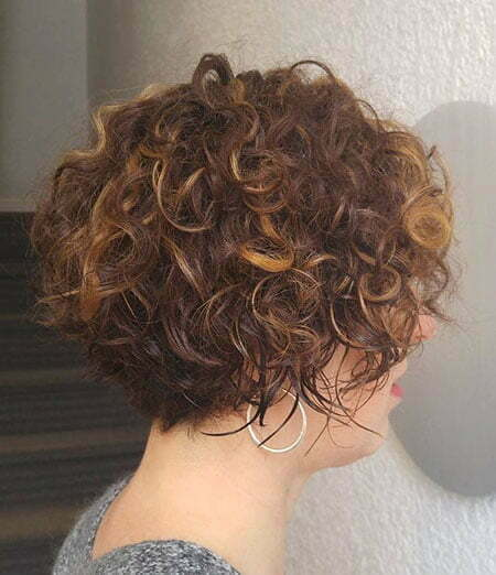 Curly Short Brunette Bob