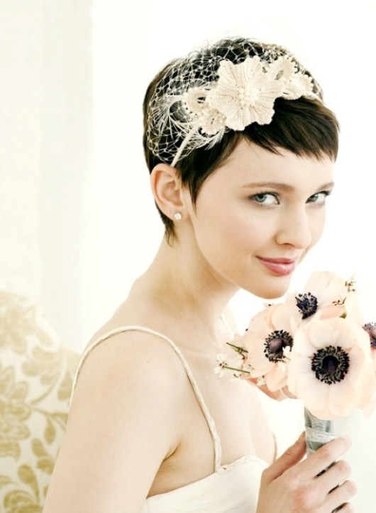 Beautiful Short Wedding Hairstyles 2013