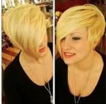 trendy short asymmetrical haircuts