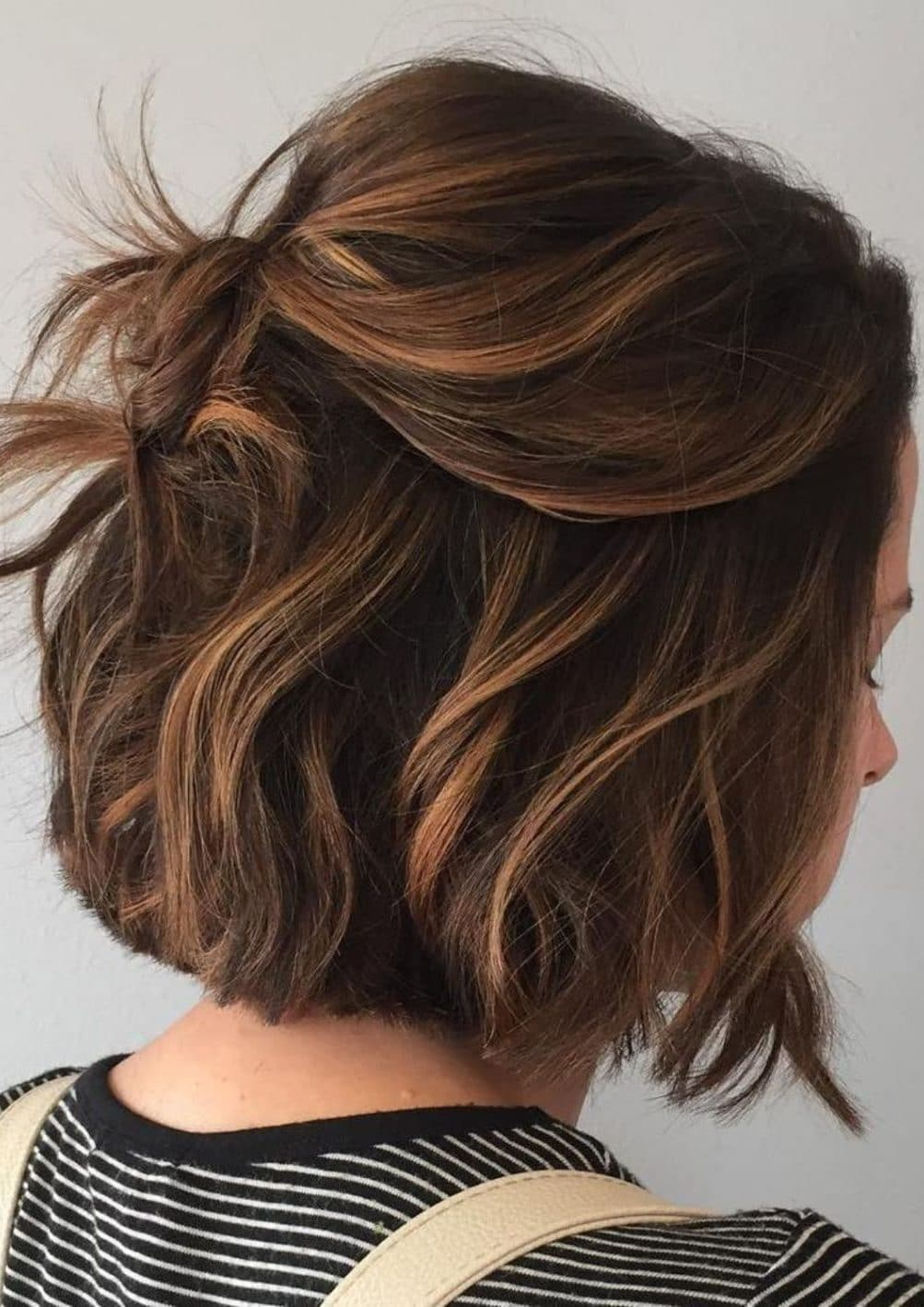 Brown Balayage Red 28 Incredible Examples Of Caramel Balayage On Short Dark