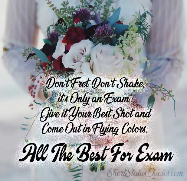 Exam Wishes Status and Good Luck Messages for Exam